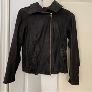 Gap faux leather jacket